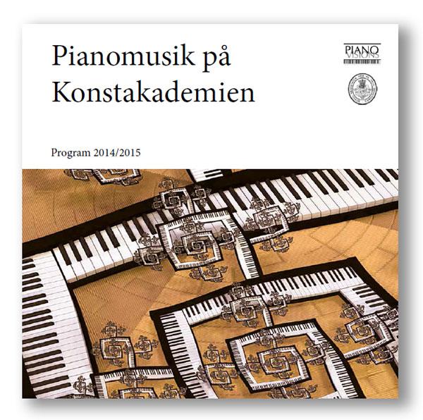 Pianomusik på KA 14/15 programbok