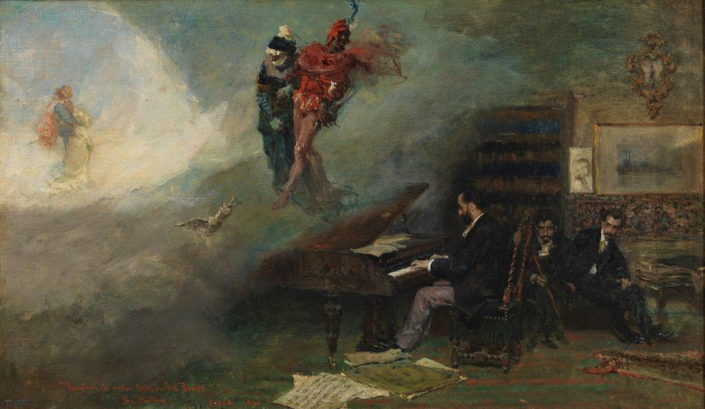 Fantasy on Faust (1866) by Mariano Fortuny Yy Marsal, Copyright Museo Nacional del Prado.